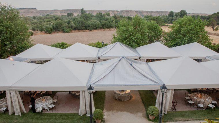 Carpa tipo modular para bodas y celebraciones