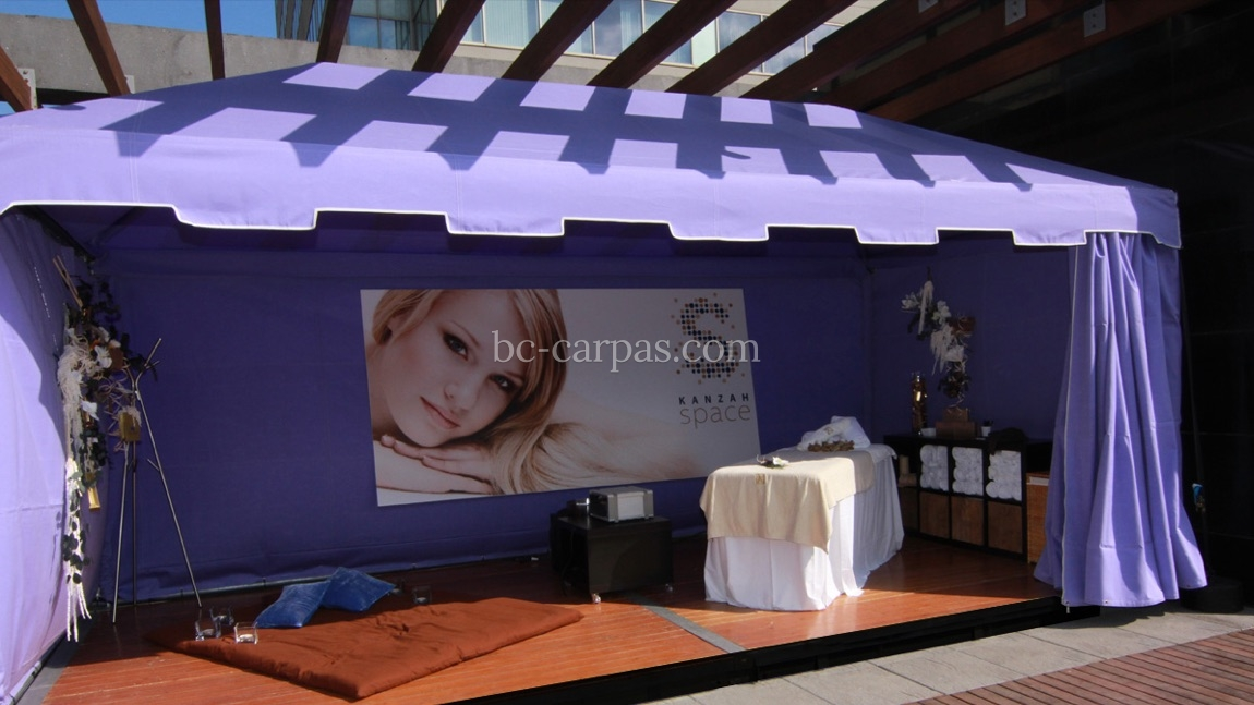 carpa color lavanda para eventos de empresa