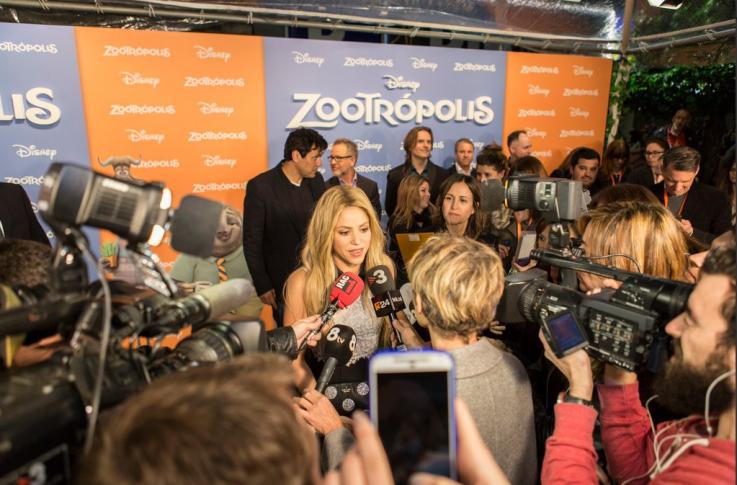 """Carpa transparente para la Premiere de la película de Disney """"Zootrópolis""""."""