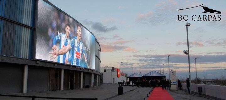 Inauguración en el estadio del Espanyol una pantalla LED gigante