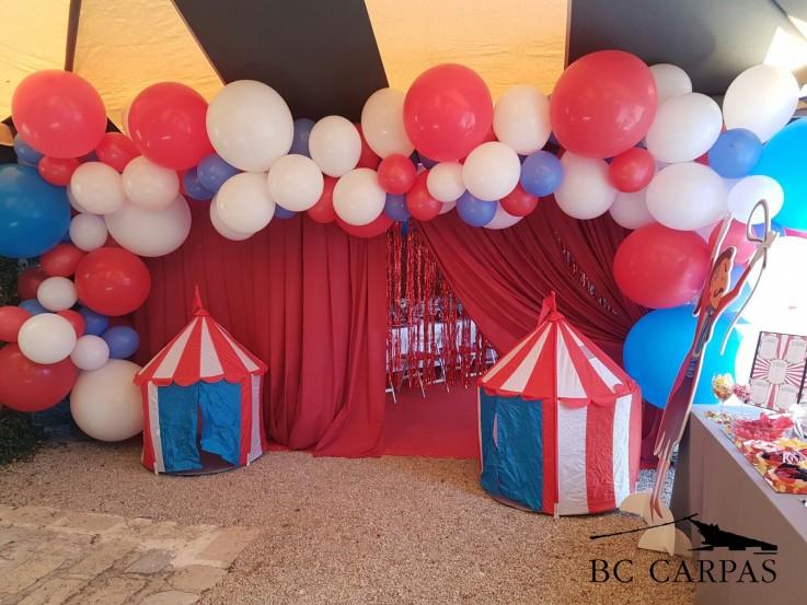 Un día de circo en una carpa