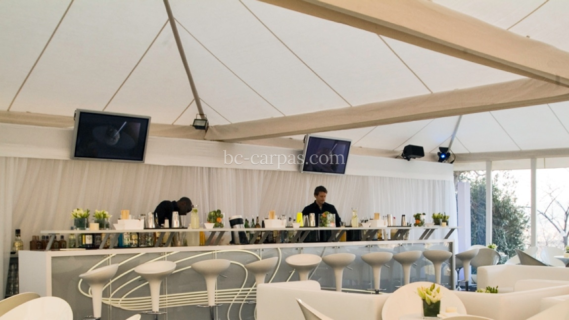Carpa color crudo para eventos de empresa