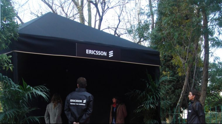 Carpa color negro para eventos de empresa